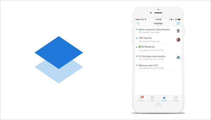 Dropbox Paper - Best Notepad app for iPhone