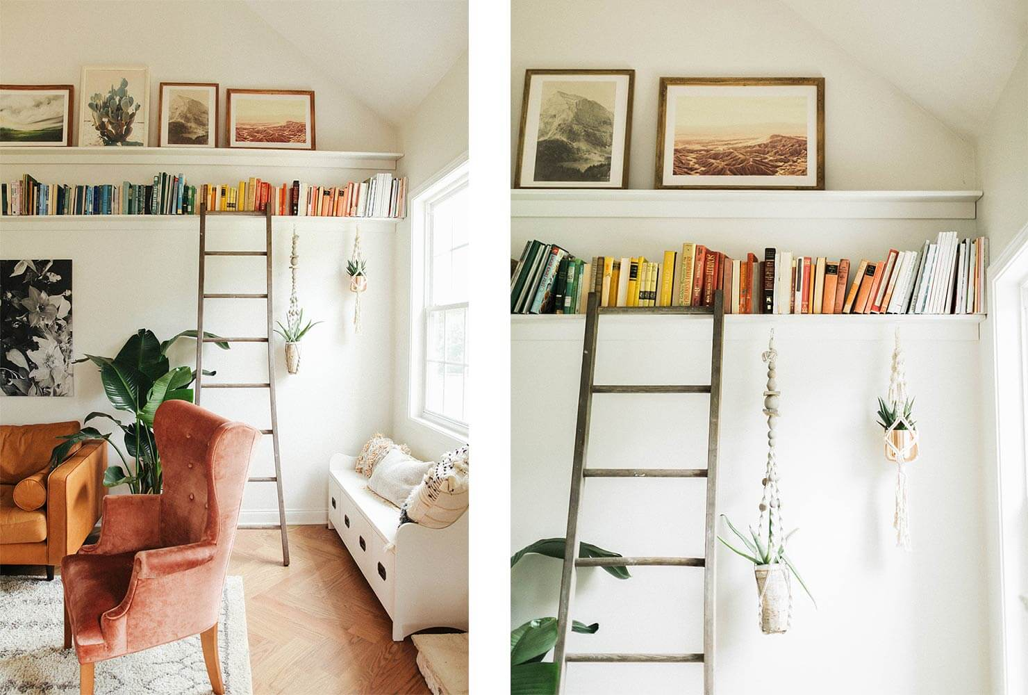 book library ladder