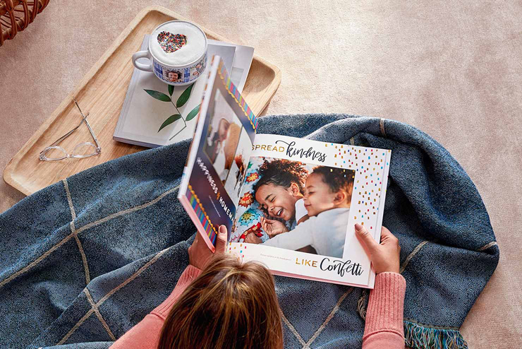 mothers day gift ideas blanket and large photo book