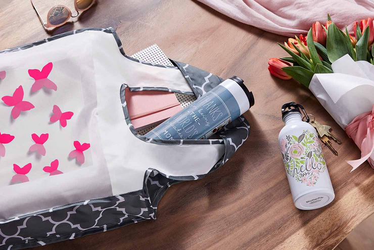 mothers day gift ideas cute water bottles and butterfly bag