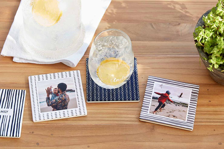 mothers day gift ideas family photo coasters
